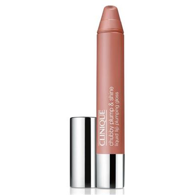 Clinique Chubby Plump And Shine Liquid Lip Gloss Normous Nude 01