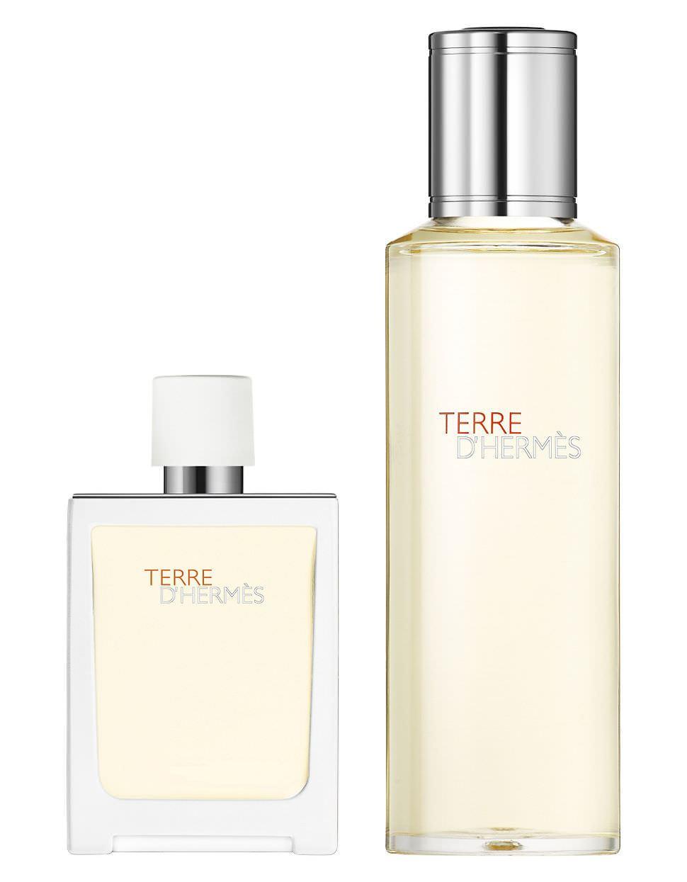Hermes Terre D Hermes Tres Fraiche EDT 30 ml+Refill Erkek Parfüm Set