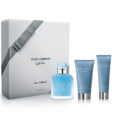 Dolce Gabbana Light Blue Pour Homme Eau Intense EDP 100 ML Set